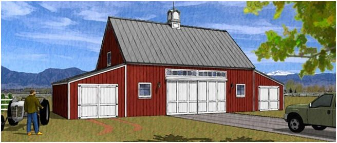 Barn plans country garage plans and workshop plans for Mini barn plans