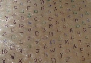 bubble wrap alphabet fun!  Would be worth trying with Braille spelling words or sight words