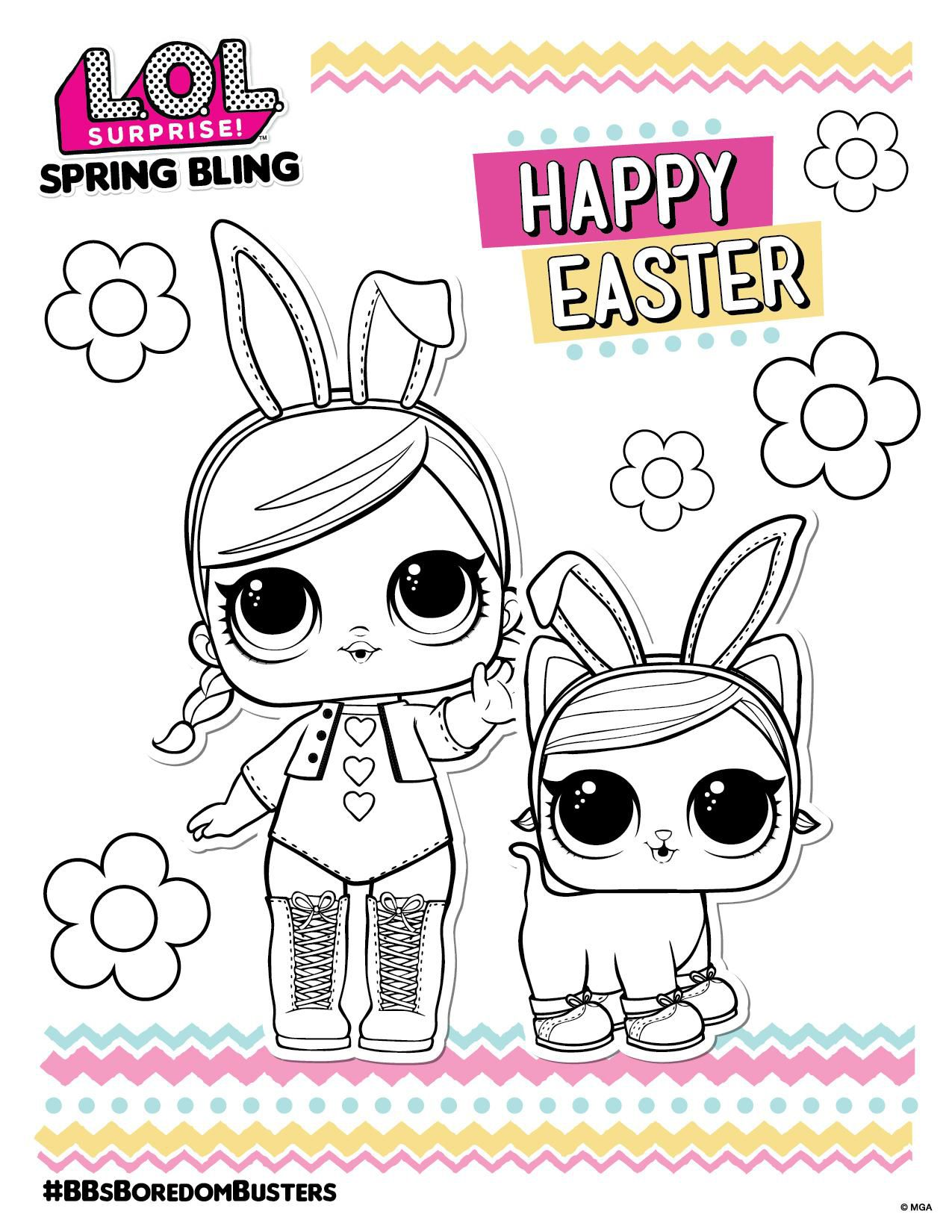 Lol Surprise Coloring Sheet Easter Coloring Sheets Coloring Sheets Coloring Pages For Girls