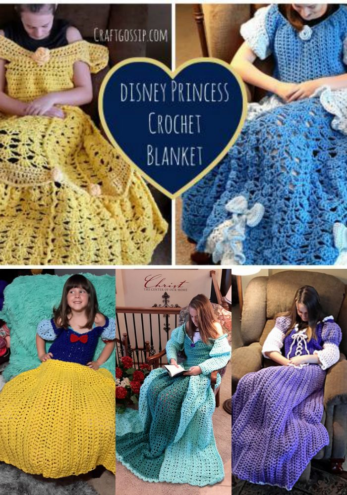 Disney Princess Crochet Lap Blanket Pattern Crochet Items