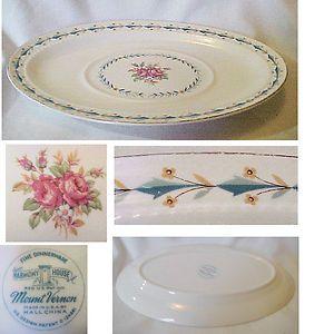 Hall China Harmony House Mount Vernon pattern plates