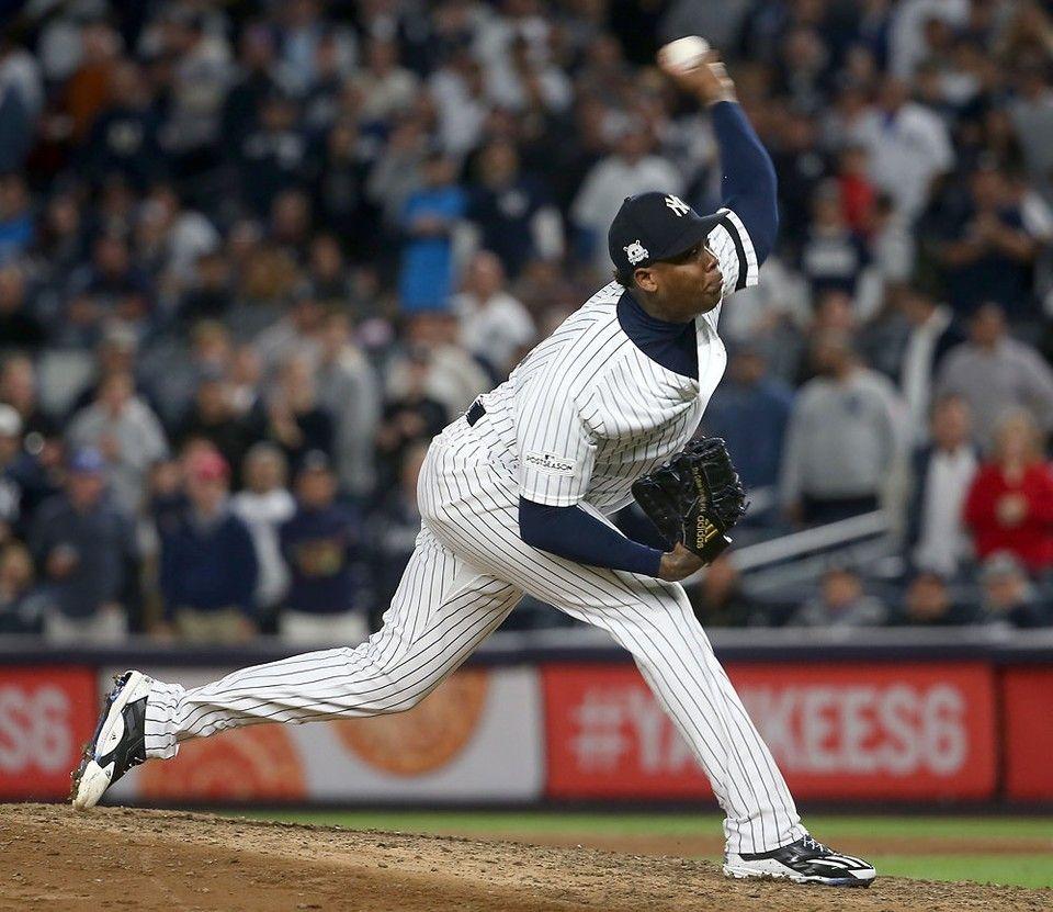 Yankees Vs Indians Alds Schedule Dates Times Tv New York Yankees Aroldis Chapman Yankees