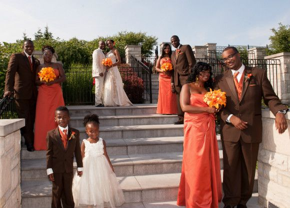 A Vibrant Blood Orange And Chocolate Brown Wedding In Vaughan Ontario