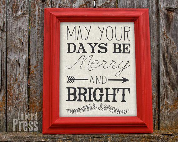 Printable Christmas Decor - Christmas Sign - Rustic Christmas