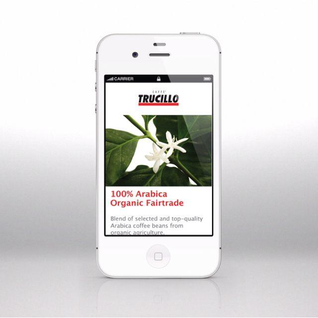 Caffè Trucillo lancia una serie di siti mobile accessibili inquadrando il QR code presente su ogni linea di prodotto.