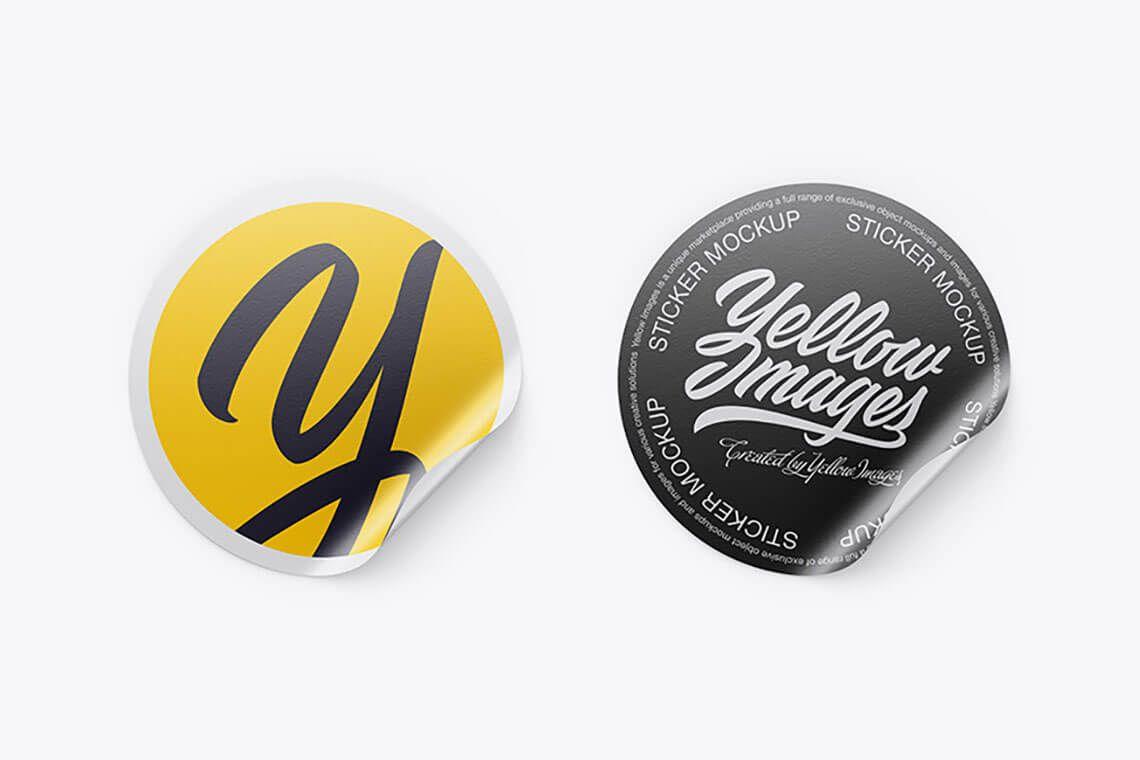 85 Gleaming Sticker Mockups Free Premium The Designest Mockup Stationery Mockup Stickers