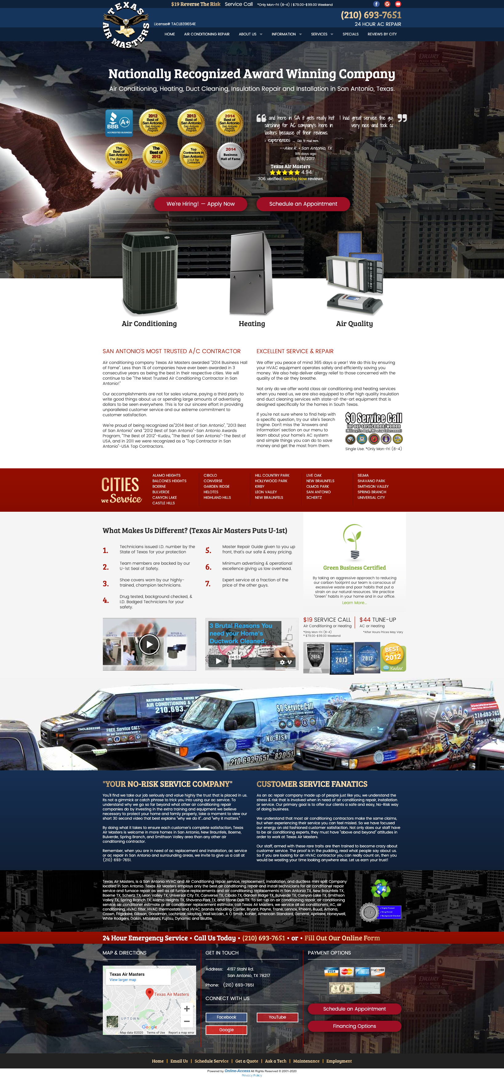 Branded Website Design in 2020 Heating and air