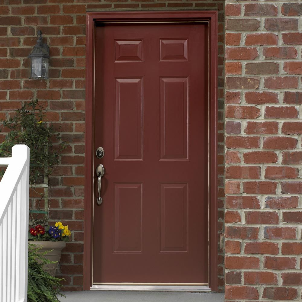 Some Day Id Like To Paint Our Front Door A Burgandy Color For