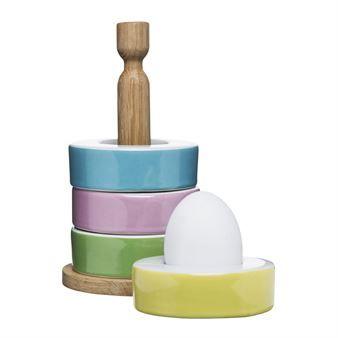 Functional kitchen egg cup set - 4-pack - Sagaform