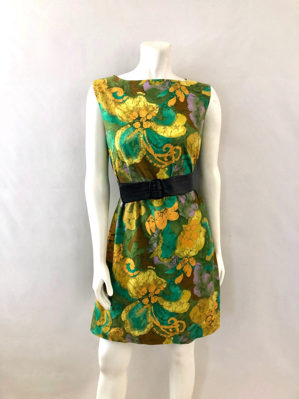 Vintage Women S 60 S Yellow Green Sleeveless Cotton Shift Dress By Alice M Vintage Ladies Shift Dress Dresses [ 3000 x 2250 Pixel ]