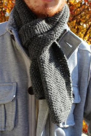 Extra Cozy Knit Scarf Pattern Knitting 4 Men Pinterest Knit