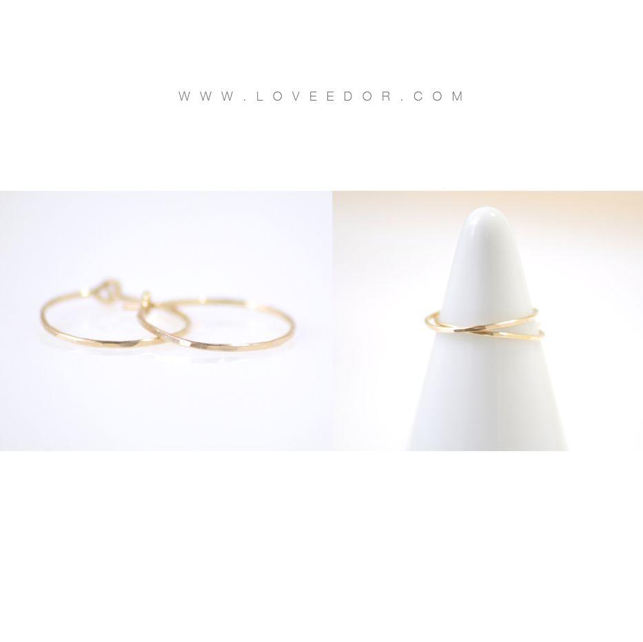 hammered gold hoops - loveedor.com