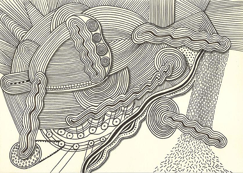 """""""rain machine 2"""",india ink on paper ,30 x 21 cm, ©matthias hennig 2013 #hennigdesign #hennig #design  #rain #machine"""
