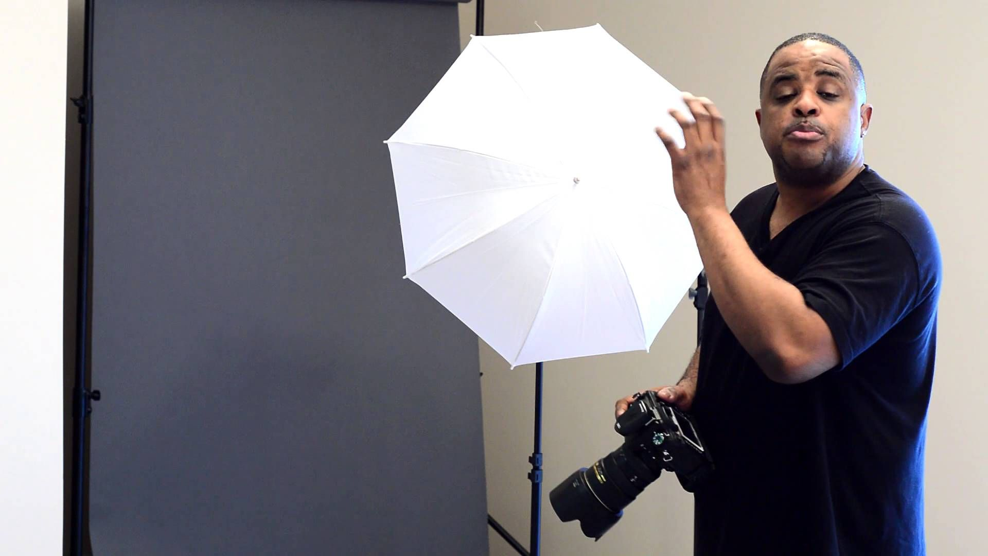 How To Use Umbrella Lights Entrancing Liked On Youtube $250 Led Video Lighting Kit  Photography Studios