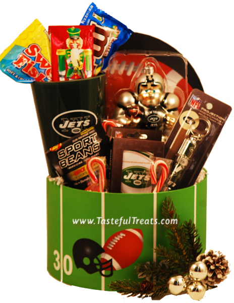 score a touchdown with this new york jets christmas gift basket