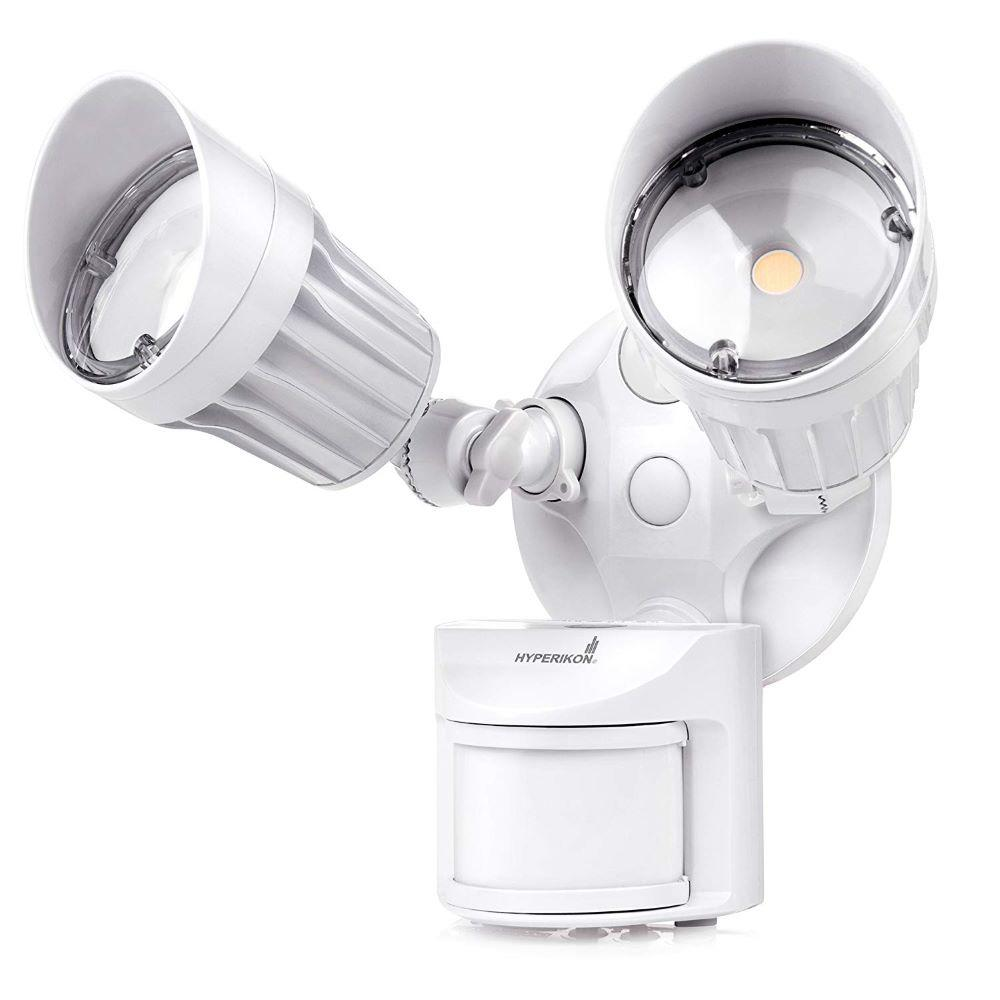 Hyperikon 2 Head 100 Watt Equivalent Integrated Led White Weather Resistant Motion In 2020 Motion Sensor Lights Outdoor Led Outdoor Flood Lights Sensor Lights Outdoor
