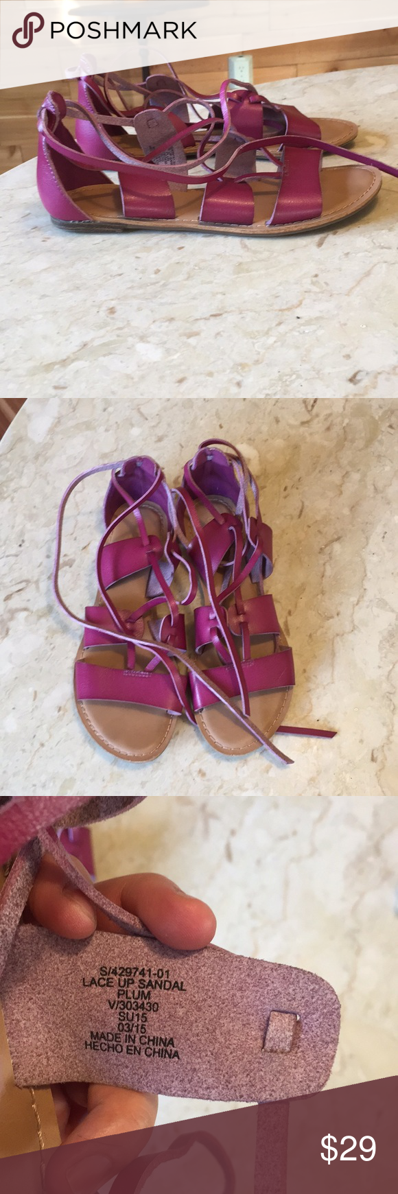c63f50e9ebc3 Old Navy Plum Purple Lace Up Gladiator Sandals sz8 Old Navy Plum Purple  Lace Up Gladiator Sandals sz8. Excellent used condition