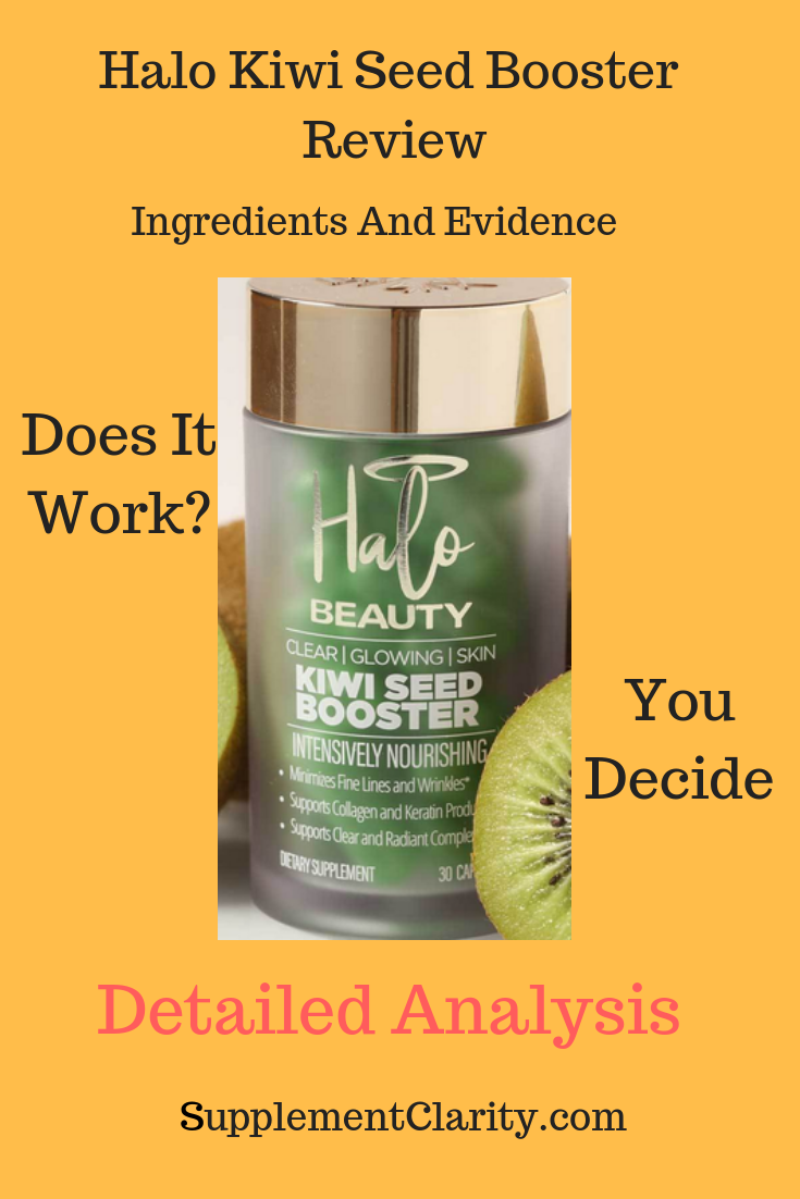 Halo Beauty Kiwi Seed Booster Review SupplementClarity