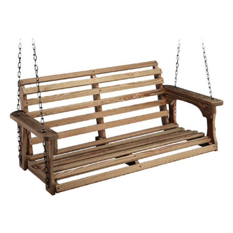 Beecham Swing Co. Roll Back Treated Wood Porch Swing - 1006