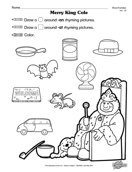 Old king cole rhyming nursery rhymes pinterest for Old king cole coloring page