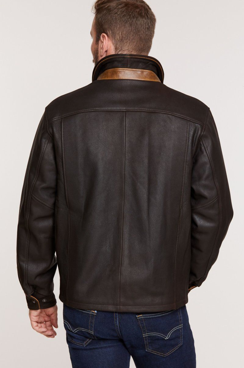 Romano Leather Jacket Big Tall 48l 52l Overland Leather Jacket Jackets Leather [ 1205 x 800 Pixel ]