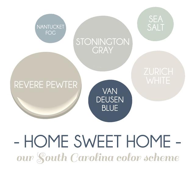 Our South Carolina Color Scheme