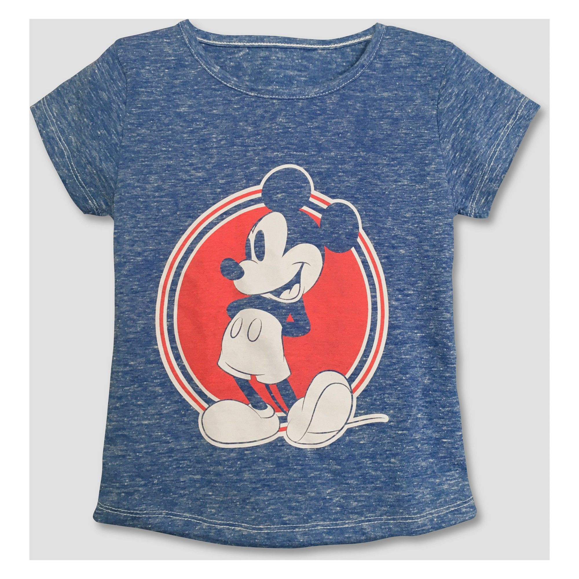 7ac9870ece92 Toddler Girls  Mickey Mouse   Friends Minnie Mouse Short Sleeve T-Shirt -  Blue 18M