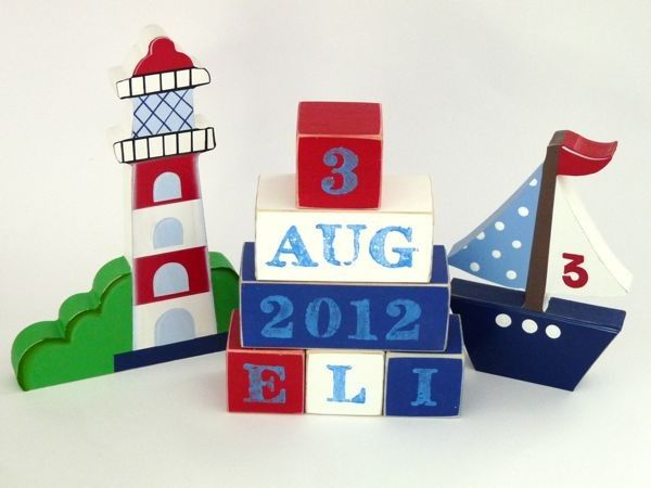 Personalised block set different styles available by a brush babies negle Gallery