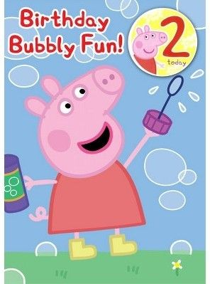 Peppa pig 2nd birthday card lots of peppa pig party supplies at peppa pig 2nd birthday card lots of peppa pig party supplies at bookmarktalkfo Choice Image