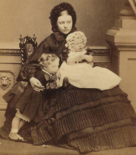 CDV The Princess Royal Victoria Children Wilhelm II Charlotte by Mayall 1861 | eBay
