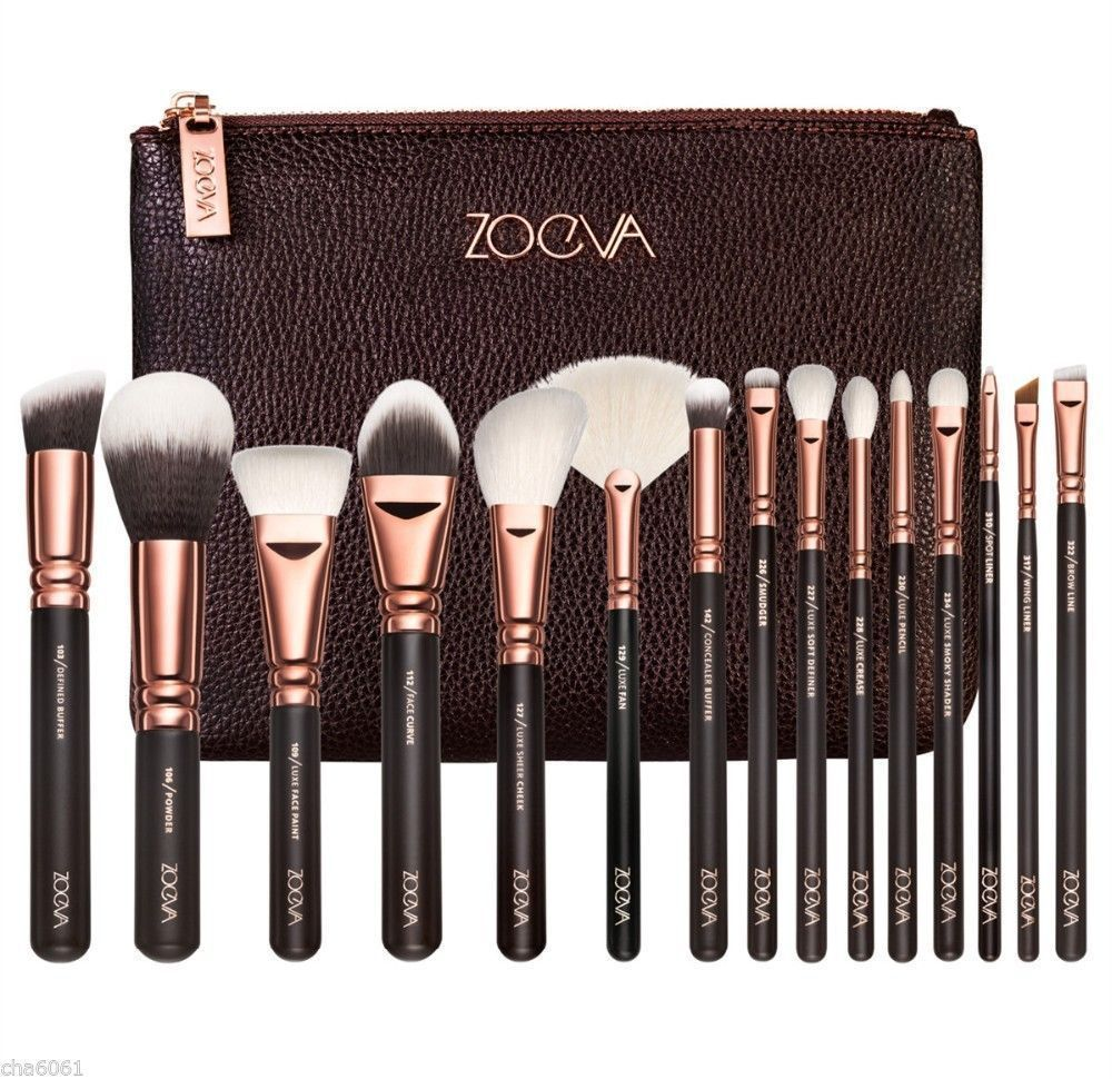 2016 zoeva 15 PCS ROSE GOLDEN COMPLETE MAKEUP BRUSH SET