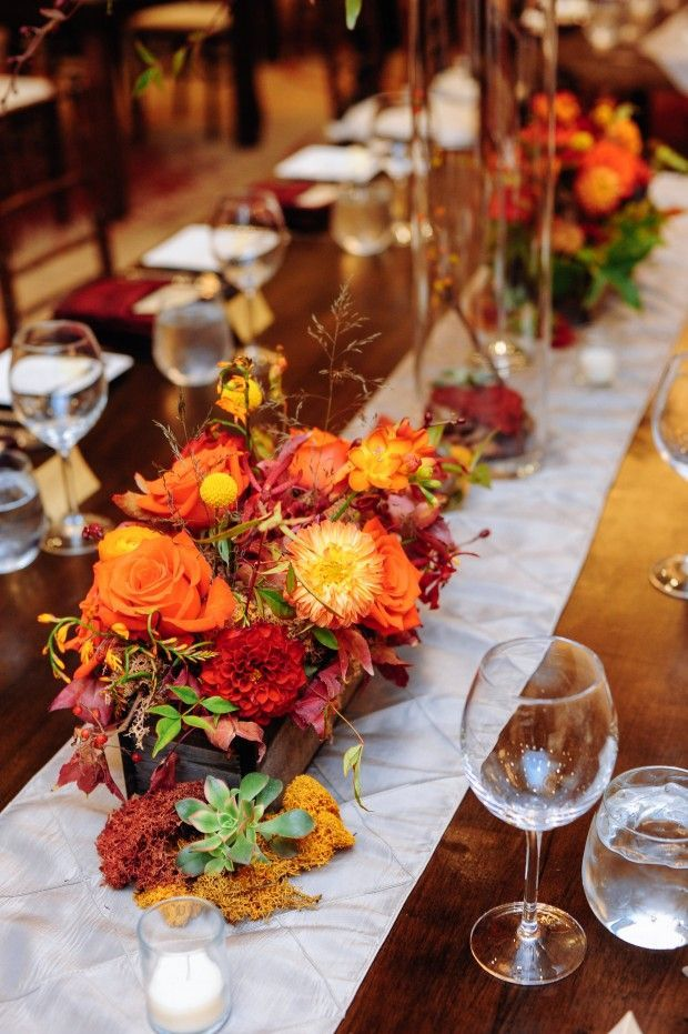 Modern Rustic Fall Wedding Decor The Colors Absolutely Make This