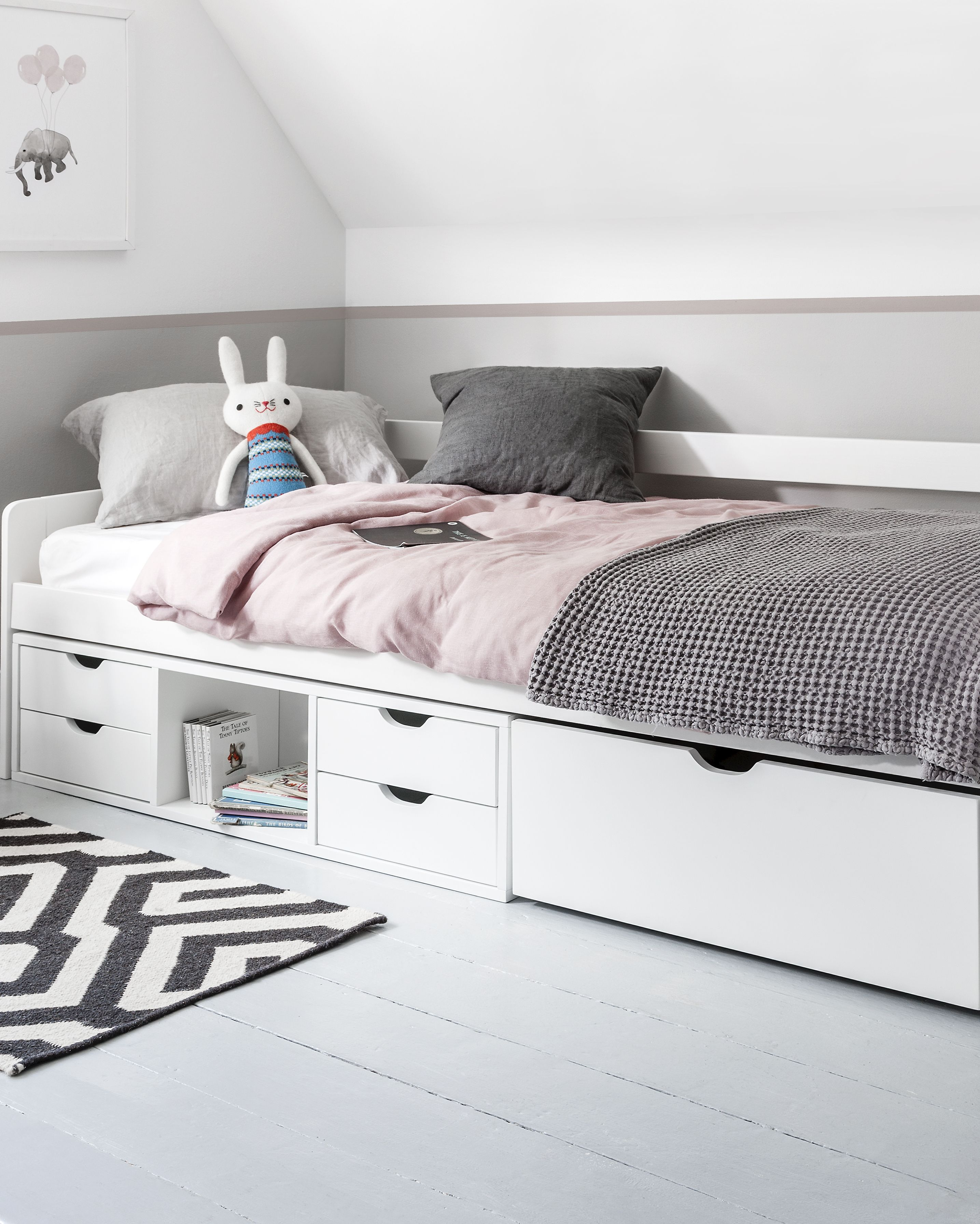 Eva Day Bed Cabin With Pull Out Drawers In 2020 Daybed With Storage Bed Frame With Storage Bed For Girls Room