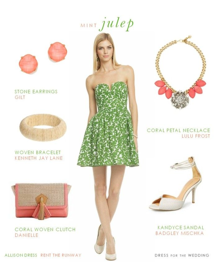 Green printed sundress | Blue dresses, Derby and Color combinations