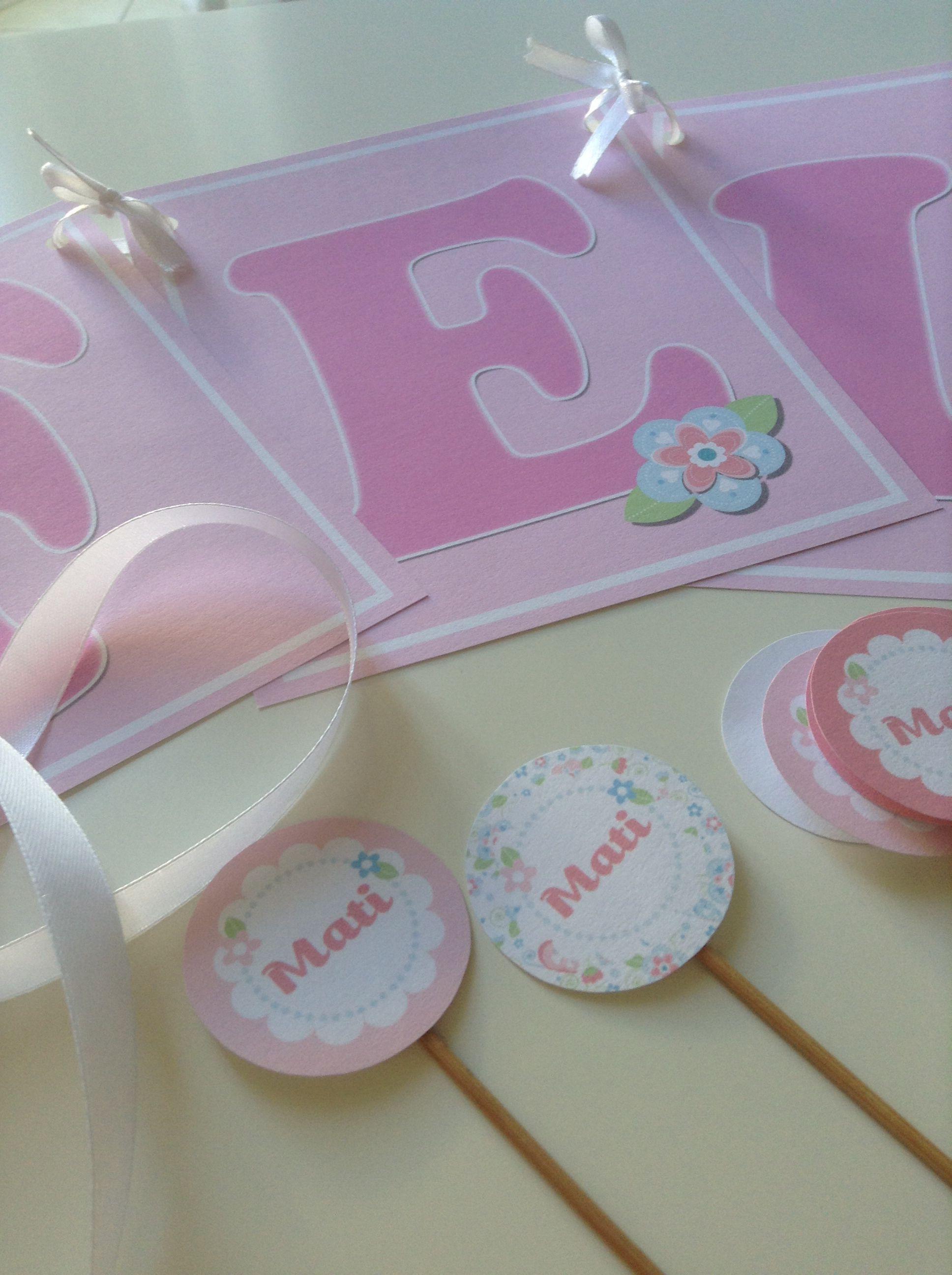 eventos gonzlvez juego de guirnalda y topper para decorar fiestas infantiles