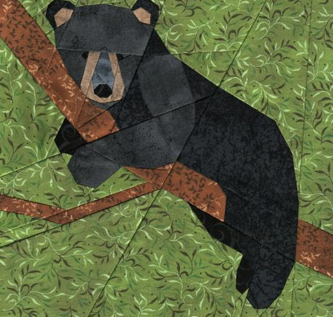 Bear In A Tree Quilt Ideas Paper Pieced Quilt Patterns