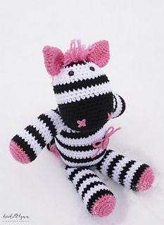 Zebra Amigurumi Toy - $3.50 by First Twin Company