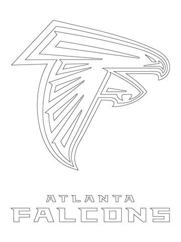 Atlanta Falcons Logo Coloring Page From Nfl Category Select From 24652 Printable Crafts Of Ca Atlanta Falcons Logo Atlanta Falcons Stencil Atlanta Falcons Diy