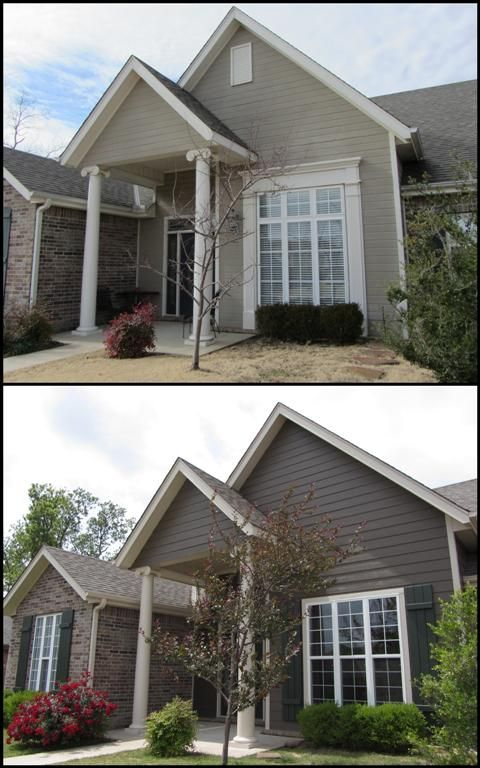 Bottom Photo Sherwin Williams Homestead Brown Exterior Paint Schemes House