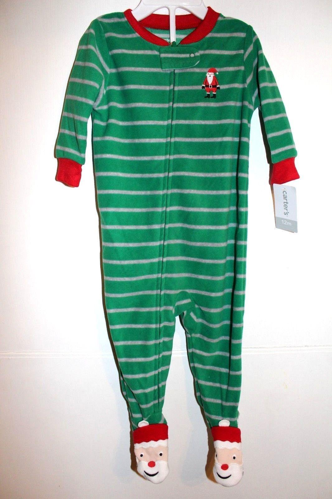 3bf3641da Sleepwear 163400  Nwt Carters Baby Girl Boy Holiday Santa Footed ...