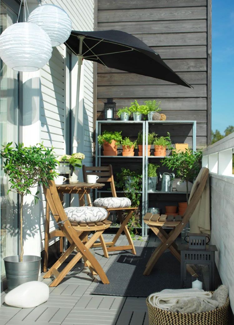 28 Idee per Arredare un Terrazzo Ikea   MondoDesign.it ...