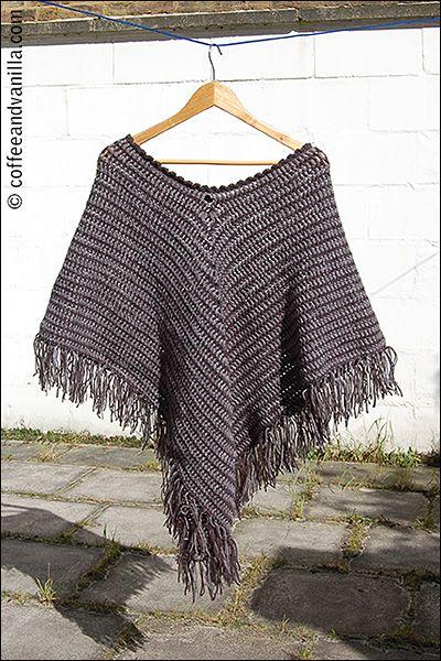 Classic Two Tone Poncho Crochet Pattern Pinterest Ponchos