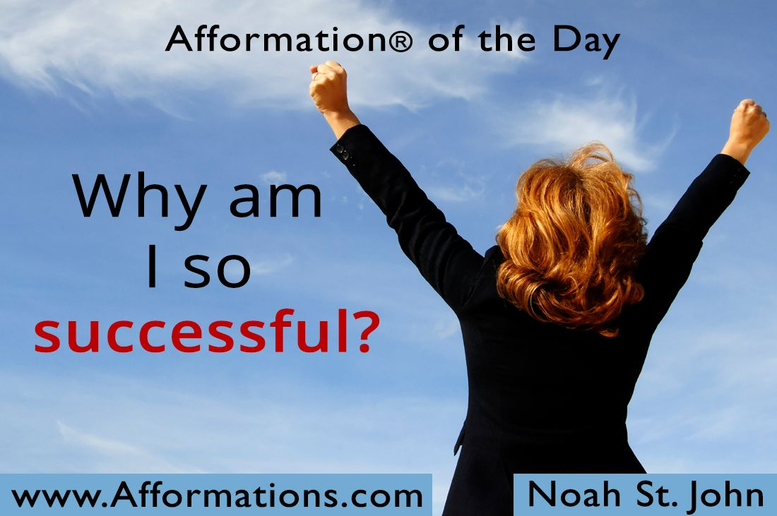 #AfformationoftheDay : Why am I so successful? Success in life is not about luck, it is about managed thoughts, focused attention and deliberate action. #AOTD #noahstjohn #success #afformations #affirmation #motivationalqoutes #inspirationalqoutes