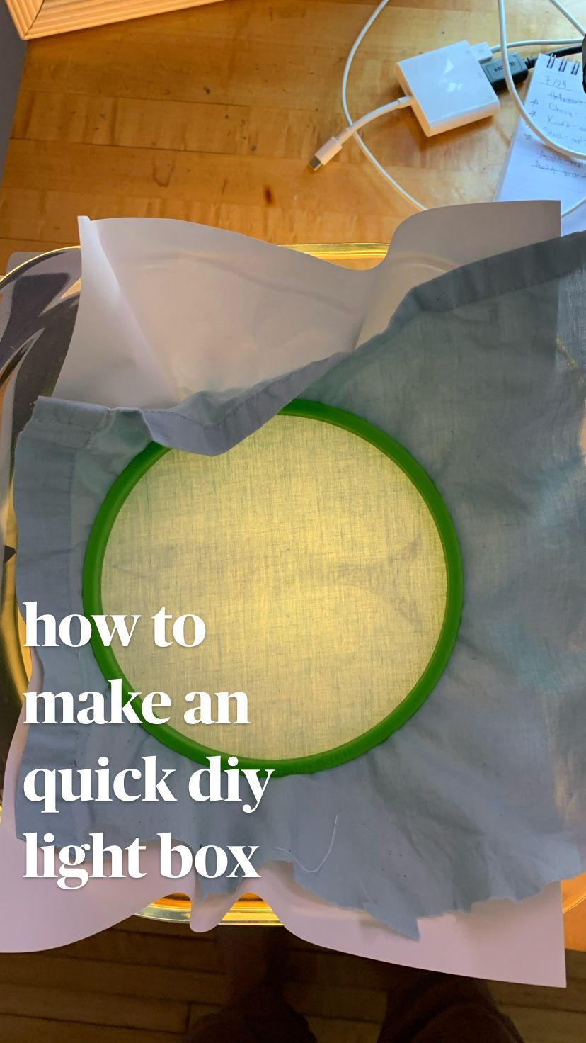 how to  make an quick diy  light box