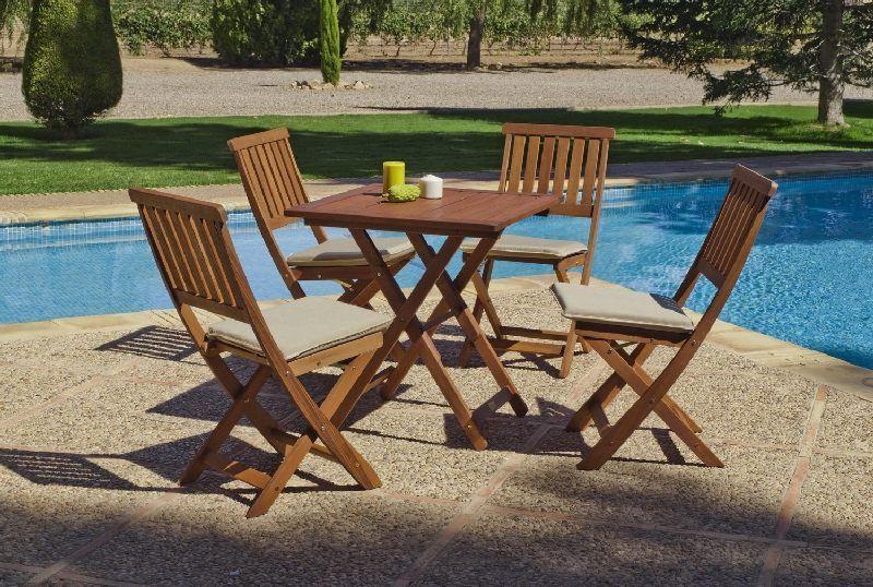 Salon de jardin acacia Colony 4 places | Salons de jardin tables ...
