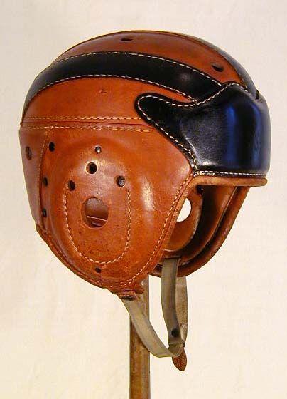 American Football Leather Helmet 30s 40s Football Helmets Helmet Vintage Football