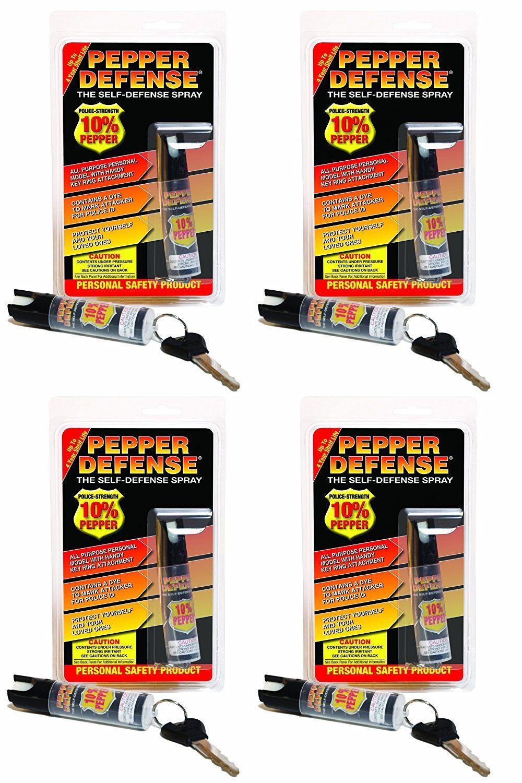 Pepper Defense (Pack of 4) 3/4 oz. Keychain 10 OC Pepper
