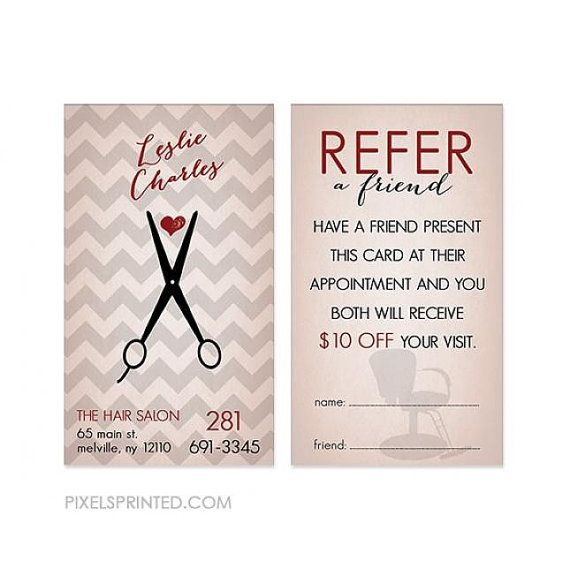 Hairstylist or hair salon referral cards color both sides free hair salon referral cards hairstylist referral cards referral cards for hair salons referral cards for hairstylists colourmoves