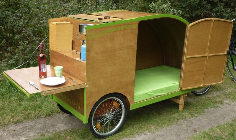 bicycle caravan tiny house plan pinterest fahrr der wohnwagen und mobiles wohnen. Black Bedroom Furniture Sets. Home Design Ideas