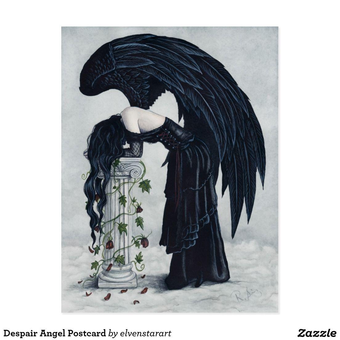 Despair Angel Postcard In 2019 Angels Art Fantasy